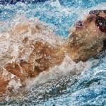 جمال چاوشی فر با ثبت زمان 26 ثانیه و 77 صدم ثانیه رکورد ملی ماده 50 متر کرال پشت را شکست.