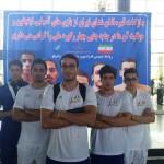شناگران ملی پوش ایران پس از نمایش موفق و جا به جایی چند رکورد ملی در بازی های آسیایی صبح امروز (دوشنبه) در میان استقبال مسئولان فدراسیون و علاقه مندان شنا به ایران بازگشتند.