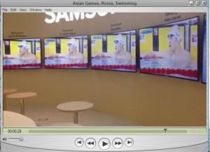 علاقه مردم کره جنوبی به مسابقات شنا (ویدئو)