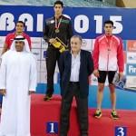 در سومین روز رقابت های بین المللی شنای دبی ، مهدی انصاری در ماده 50 متر پروانه به مدال طلا رسید.