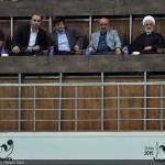 معاون پارلمانی رئیس جمهور و وزیر ورزش بازی فینال ایران و ارئگوئه را از نزدیک به تماشا نشستند.