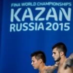 روز سوم مسابقات جهانی فینا (کازان 2015) با کسب یک طلای دیگر برای چین، آمریکا و روسیه همراه شد.