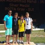 محمدمهدی دوام شیرجه رو نوجوان و آینده دار  بر سکوی نخست تخته یک متر مسابقات اتریش ایستاد.