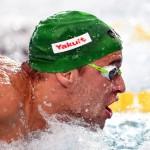 """دومین گام از مسابقات هشت مرحله ای جام جهانی شنا با صدرنشینی """"کمرون وندربرگ"""" از آفریقای جنوبی به پایان رسید."""
