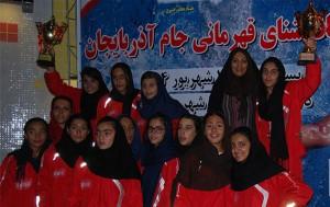 قهرمانی ستارگان دلفین الف در مسابقات شنا دختران جام آذربایجان