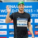 روز  یکشنبه (12 مهر 1394) و با پایان پنجمین گام از سری مسابقات هشت مرحله ای جام جهانی شنا فینا 2015، کمرون وندربرگ از آفریقای جنوبی همچنان به صدرنشینی ادامه میدهد.