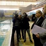 عصر یکشنبه (13 دی 1394) معاون توسعه منابع و پشتیبانی وزارت ورزش و جوانان از اردوی تیم ملی شنا و شیرجه در استخر قهرمانی آزادی تهران بازدید کرد.
