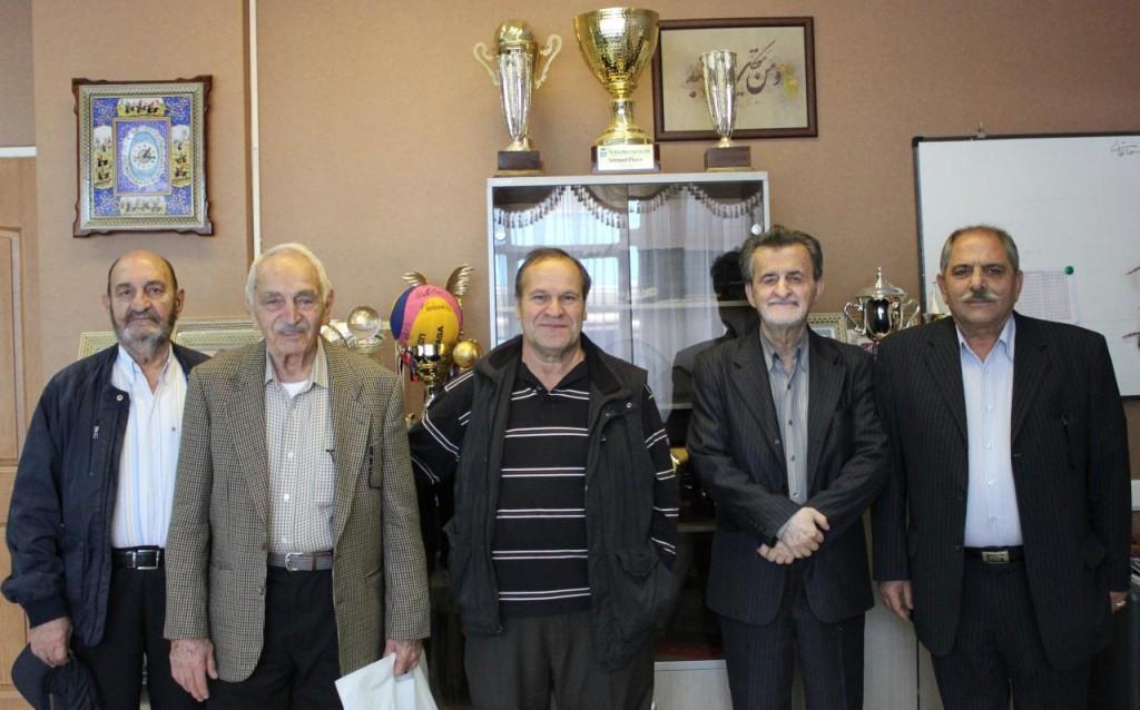 هم نشینی پیشکسوتان شنای ایران