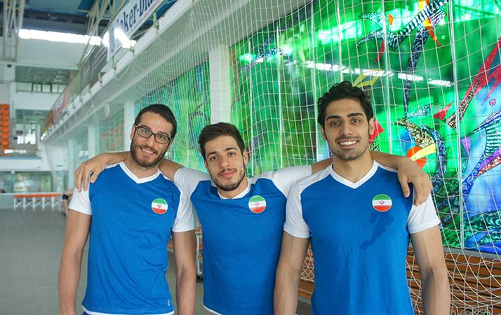 احمدرضا جلالی در کنار آرشام میرزایی (سمت راست) و جمال چاوشی فر (سمت چپ) در کمپ تمرینی دبرسن مجارستان