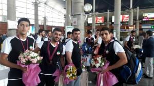 واترپلوئیستهای جوان به ایران بازگشتند
