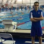 آریا نسیمی شاد تنها نماینده شنای ایران در المپیک ریو 2016، تمرینات خود را در استخر تمرینی شهر ریودژانیرو تا پیش از شروع مسابقه اش در روز سه شنبه (19 مرداد 1395) پیگیری میکند.