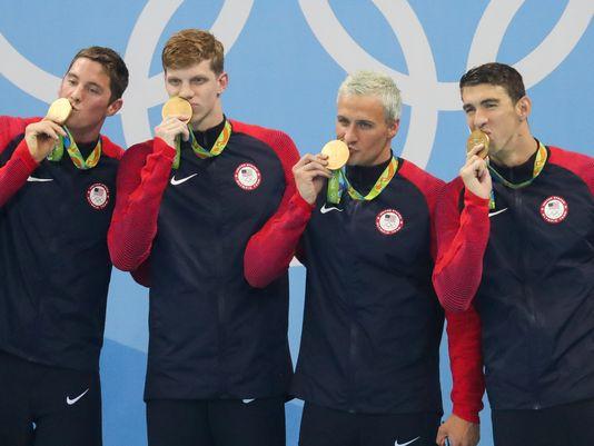 تیم 4 در 200 متر آمریکا قهرمان المپیک ریو 2016