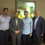 مراسم بدرقه آریا نسیمی شاد در دفتر کوروش صبوریان مدیرکل ورزش و جوانان خراسان رضوی برگزار شد.