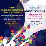 کلینیک فینا ویژه مربیان شنای موزون حد فاصل روزهای ۲۵ شهریور تا اول مهر 1395 برگزار می شود.