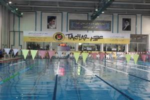 آغاز مسابقات بین المللی شنای جام فجر زنده رود