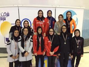 رکوردهای ورودی انتخابی تیم ملی شنا بانوان بالای ۱۵ سال کشور