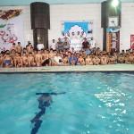 مرحله نخست سومین دوره لیگ شنای باشگاههای استان مازندران با حضور 9 تیم روز پنجشنبه (19 اسفند 1395) برگزار شد .
