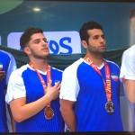 روز نخست مسابقات شنای قهرمانی مسافت کوتاه کشورهای آسیای میانه ۲۰۱۷  با کسب یک طلا، سه نقره و سه برنز برای نمایندگان ایران به پایان رسید.