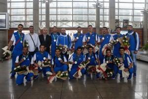 گزارش تصویری_استقبال از کاروان شنا و واترپلو اعزامی به بازیهای کشورهای اسلامی