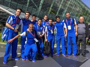 ورود تیم های ملی شنا و واترپلو به باکو