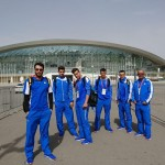 تیم ملی شنا ایران در بازی های کشورهای اسلامی در ماده چهار در صد متر مختلط  بر سکوی سوم ایستاد.