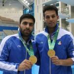 شهنام نظرپور و مجتبی ولی پور به فینال شیرجه سکوی 10 متر بازیهای کشورهای اسلامی راه یافتند.