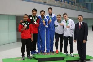 گزارش تصویری_قهرمانی تیم ملی ایران در شیرجه هماهنگ تخته سه متر