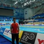 مهدی انصاری تنها نماینده شنای ایران در مسابقات قهرمانی جهان - بوداپست 2017 صبح امروز(شنبه) تمرینات خود را آغاز کرد.