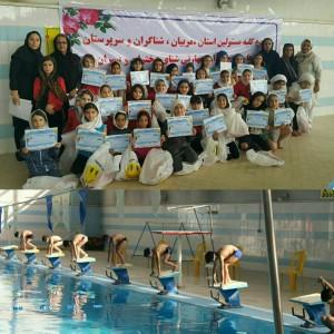 گزارش تصویری_جشنواره شنا دختران و پسران زیر 10 سال استان البرز