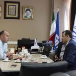 ظهر امروز (دوشنبه) محسن رضوانی با حامد جولايي مدیرکل اداره ورزش و جوانان استان کردستان در محل فدراسیون شنا به بحث و گفت و گو پرداخت.
