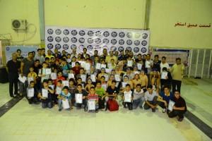 برگزاری مسابقات واترپلو زیر ۱۲ سال استان خوزستان در آبادان