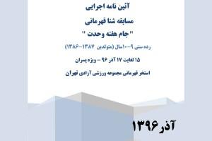 آئین نامه اجرایی مسابقات شنا جام هفته وحدت تهران