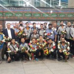 تیم واترپلوی سایپا صبح امروز با استقبال مسئولین فدراسیون و باشگاه وارد تهران شد.