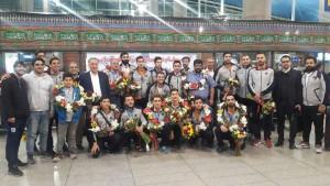 تیم واترپلو سایپا نایب قهرمان جام باشگاههای آسیا وارد ایران شد