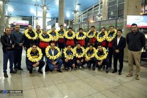 تیم واترپلو دانشگاه آزاد اسلامی  دارنده برنز جام باشگاه های آسیا وارد ایران شد