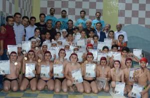 قهرمانی تیم تلاش در مسابقات واترپلو نوجوانان استان فارس