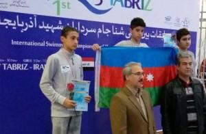 نتایج کامل روز نخست مسابقات شنا بین المللی تبریز