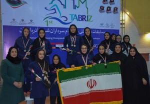 قهرمانی تیم ایران در پایان مسابقات بین المللی شنای دختران تبریز