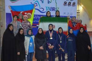 گزارش تصویری_مراسم توزیع مدال مسابقات شنا بین المللی دختران تبریز