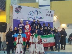 گزارش تصویری_مراسم توزیع مدال روز پایانی مسابقات شنا بین المللی دختران تبریز