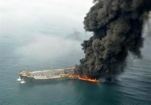 ابراز همدردی خانواده شنای ایران با دریانوردان کشتی سانچی