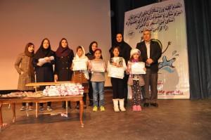 تجلیل از قهرمانان جشنواره شنای بین استخری دختران اصفهان