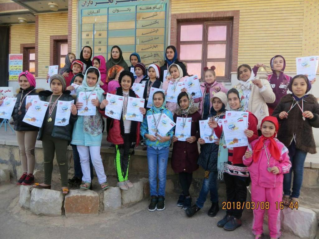 قهرمانی شناگران دختر گلپایگانی در استان اصفهان
