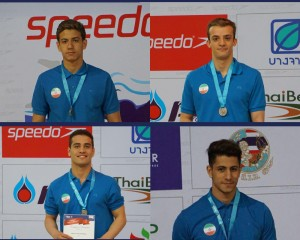 یک طلا دو نقره و یک برنز حاصل کار شناگران ایران در روز نخست رقابتها