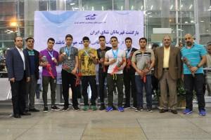 استقبال از تیم ملی شنا ایران در بازگشت از مسابقات انتخابی المپیک جوانان