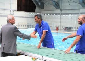 بازدید سرپرست کاروان بازیهای آسیایی از اردو مشترک واترپلو ایران و چین