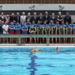 وزیر ورزش و جوانان به همراه رئیس کمیته ملی المپیک و هیات بلندپایه از مسئولان ورزش کشور از تمرین تیم ملی واترپلو بازدید کردند.
