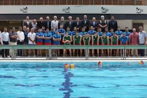 بازدید وزیر ورزش و رئیس کمیته ملی المپیک از اردوی تیم ملی واترپلو