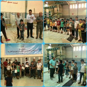 برگزاری جشنواره شنا پسران منطقه آزاد اروند