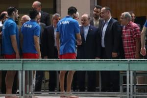 گزارش تصویری_بازدید وزیر ورزش و رئیس کمیته ملی المپیک از اردوی تیم ملی واترپلو